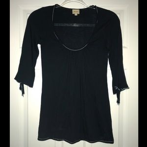 Tops - Ella Moss 3/4 sleeve black blouse w/ tie details
